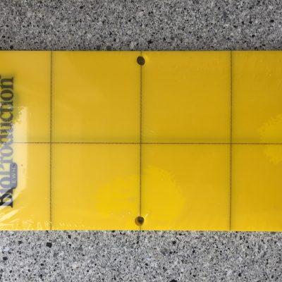 Gul fangplade 10 x 20 cm.